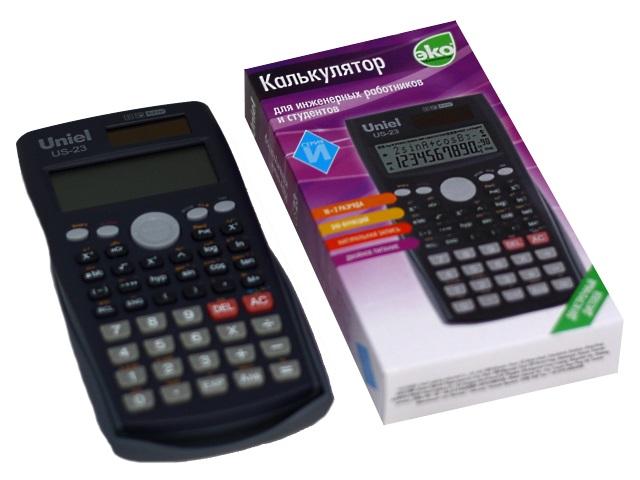 Калькулятор инженерный 12-разрядный Uniel серый 16.2*8.4 см US-23