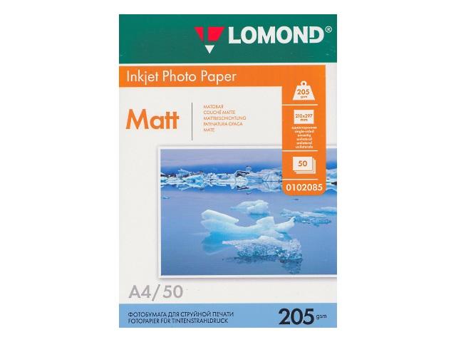 Фотобумага А4 Lomond матовая 205 г/м2 50л 0102085
