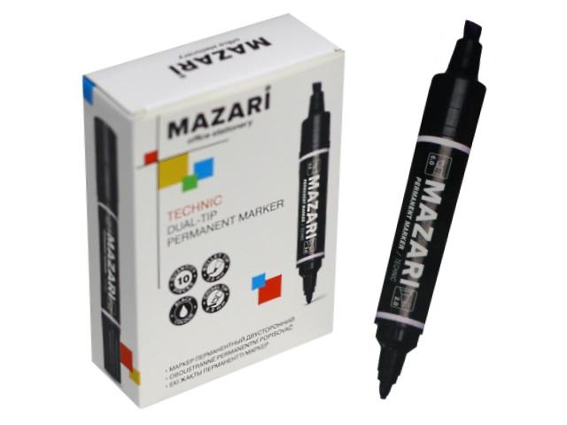 Маркер перманентный Mazari Technic черный 2-6мм двухсторонний M-5041-71