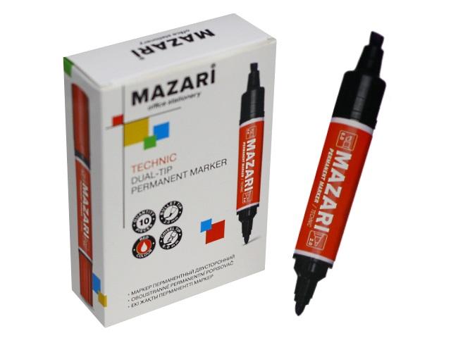 Маркер перманентный Mazari Technic красный 2-6мм двухсторонний M-5041-72