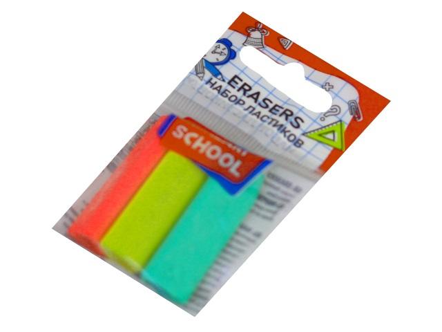 Ластики  3 шт. Mazari Pencil Holder фигурные цветные М-6792