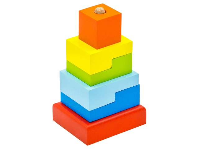 Пирамидка дерево Ступеньки Alatoys ПСТ03