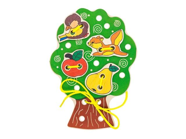 Шнуровка деревянная Дерево Alatoys ШД01