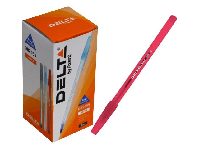 Ручка шариковая Axent Delta красная 1мм DB2055