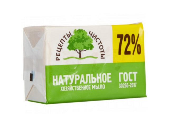 Мыло хозяйственное 72% 200г Рецепты чистоты НМЖК