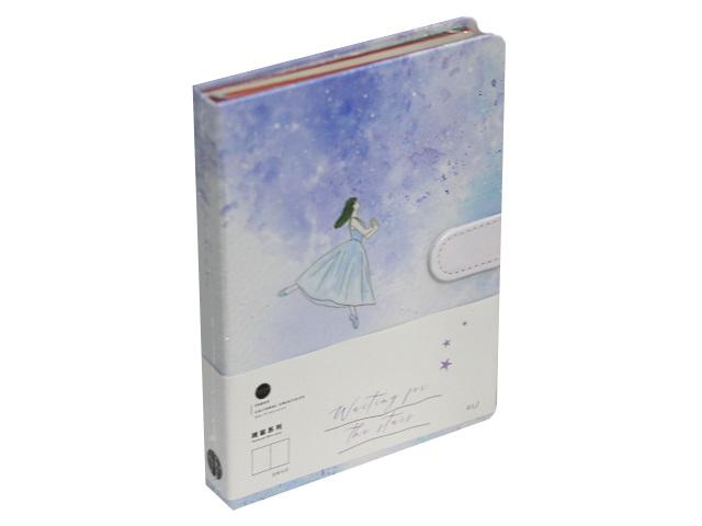 Записная книжка А5 на магните тв/переплёт 128л Dancing Mazari M-3942
