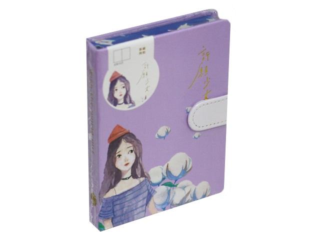 Записная книжка А6 на магните тв/переплёт 128л Girl with Flowers Mazari M-3945