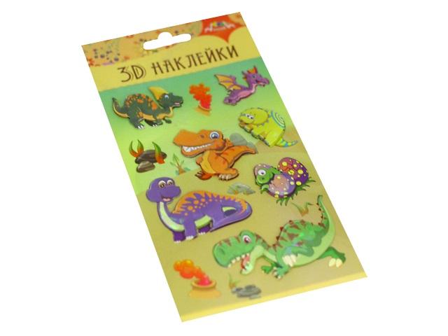 Наклейки Апплика  9.5*18.5см 3D Динозавры С3485-02