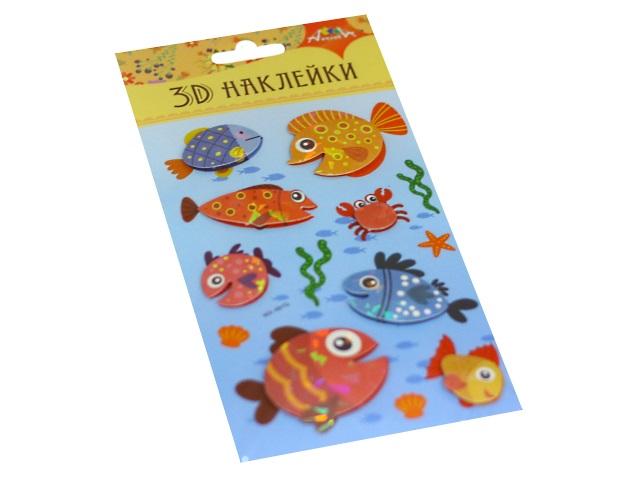 Наклейки  9.5*18.5см 3D Рыбка Апплика С3485-01