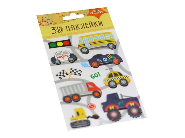 Наклейки  9.5*18.5см 3D Транспорт Апплика С3485-07