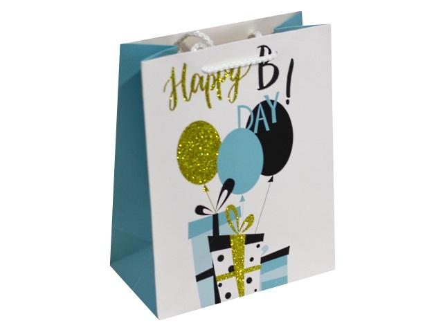 Пакет подарочный бумажный 18*23*10см Веселый праздник Miland ПП-4037