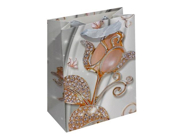 Пакет подарочный бумажный 18*23*10см Роскошные цветы Miland ПП-4075