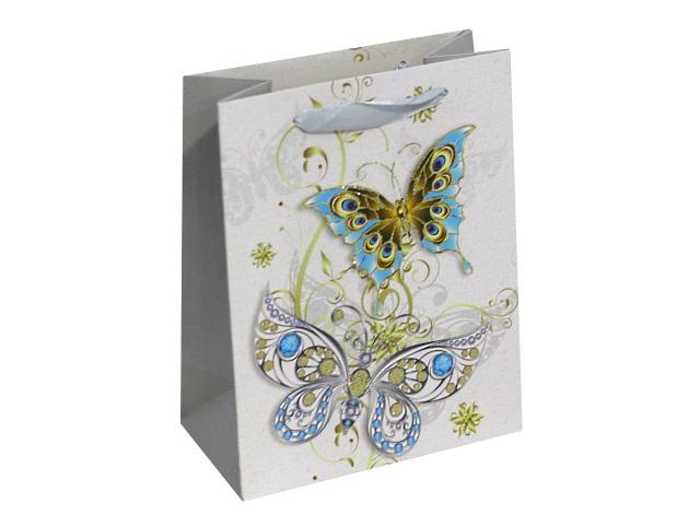 Пакет подарочный бумажный 18*23*10см Чудесные бабочки Miland ПП-4088