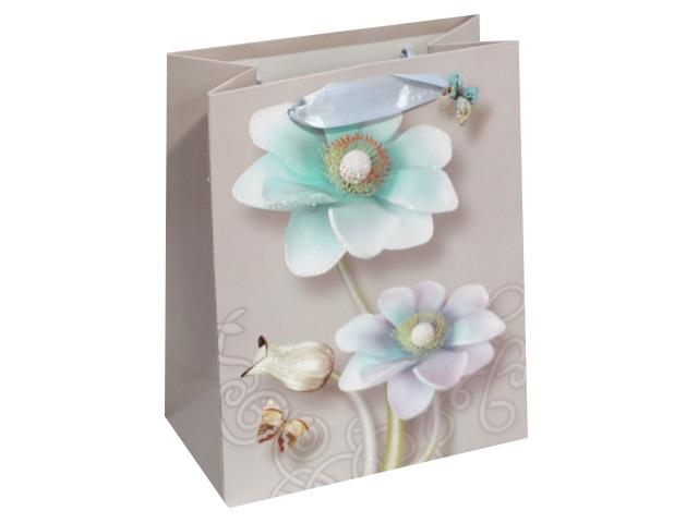 Пакет подарочный бумажный 18*23*10см Изящные цветы Miland ПП-4072