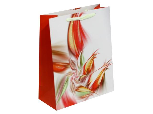 Пакет подарочный бумажный 32*26*10см Пестрый цветок Miland ПП-4145