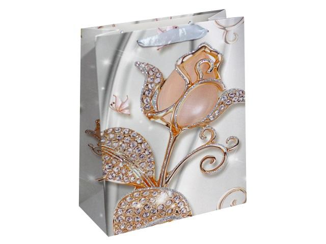 Пакет подарочный бумажный 32*26*10см Роскошные цветы Miland ПП-4139