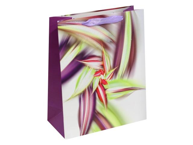 Пакет подарочный бумажный 32*26*10см Сказочный цветок Miland ПП-4143
