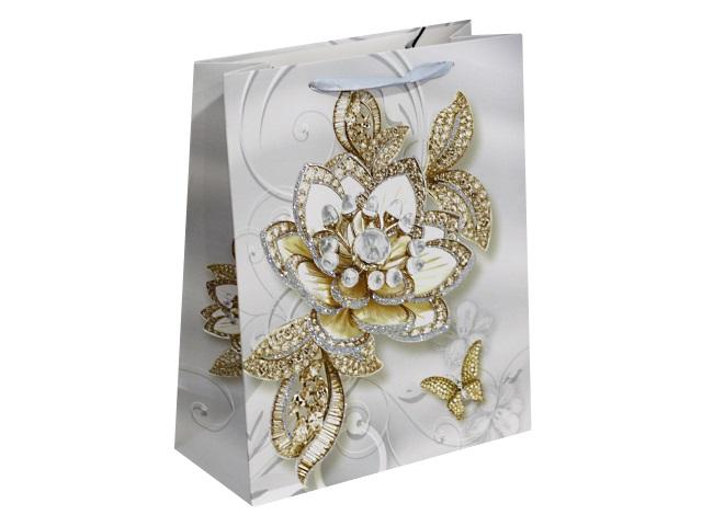 Пакет подарочный бумажный 32*26*10см Чарующие цветы Miland ПП-4141