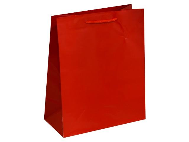 Пакет подарочный бумажный 26.4*32.7*13.6см Классика красный Miland ПП-1672