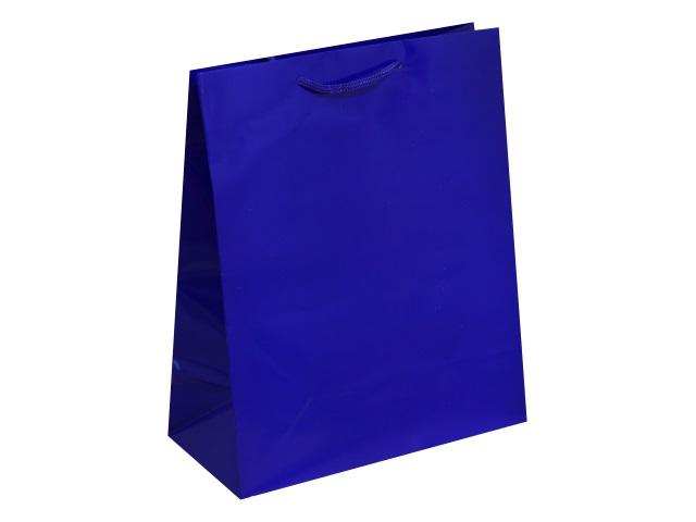 Пакет подарочный бумажный 26.4*32.7*13.6см Классика синий Miland ПП-1673
