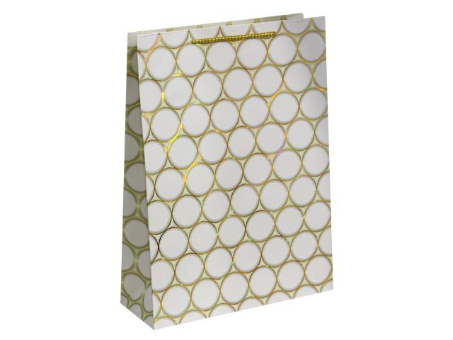 Пакет подарочный бумажный 42*31*12см Золотые круги Miland ПП-4160