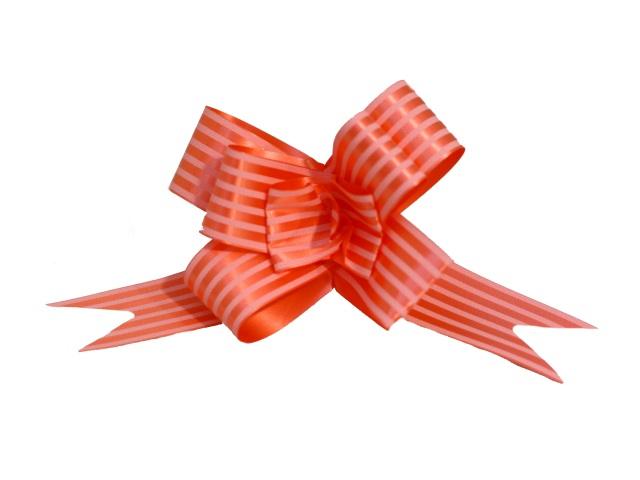 Бант-бабочка упаковочный 10 шт. 30мм Полоски красный Miland БЛ-6501