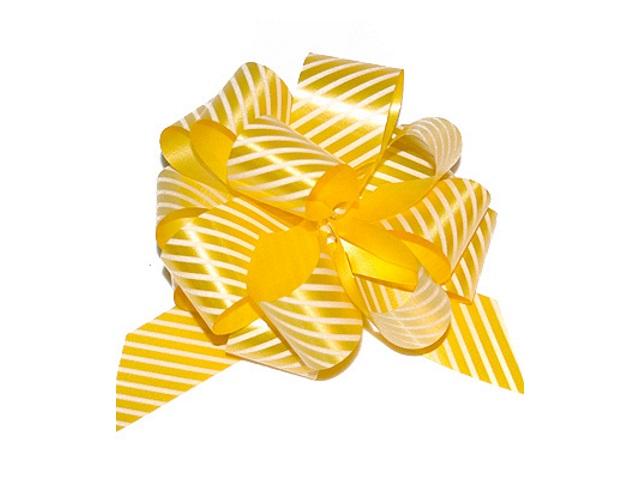 Бант-шар упаковочный 30мм Полоски желтый Miland БЛ-6493