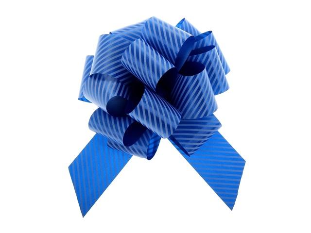 Бант-шар упаковочный 30мм Полоски синий Miland БЛ-6494