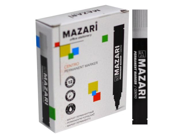Маркер перманентный Mazari Centro черный круглый 2мм M-5006-71