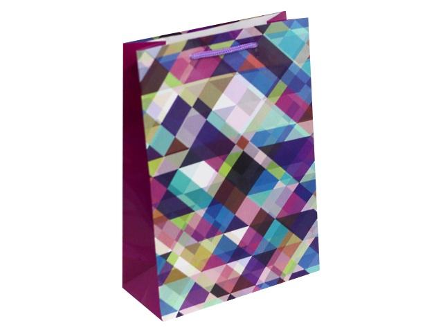 Пакет подарочный бумажный 22*31*10см Красивый узор Miland ПП-1681
