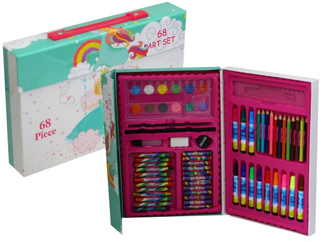 Набор для творчества  68 предметов в портфеле Basir МС-5029