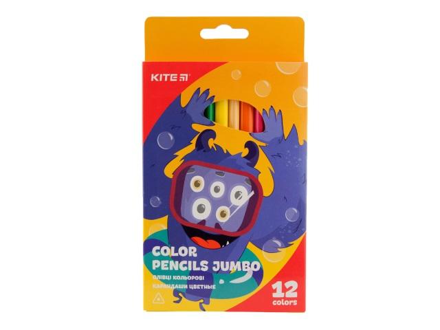 Карандаши цветные 12цв Kite Jumbo трехгранные K19-048-5