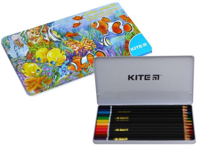 Карандаши цветные 12цв Kite Животные трехгранные K16-058