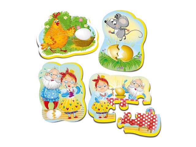 Пазлы мягкие Vladi Toys Maxi 4в1 Сказки Курочка Ряба VT1106-61