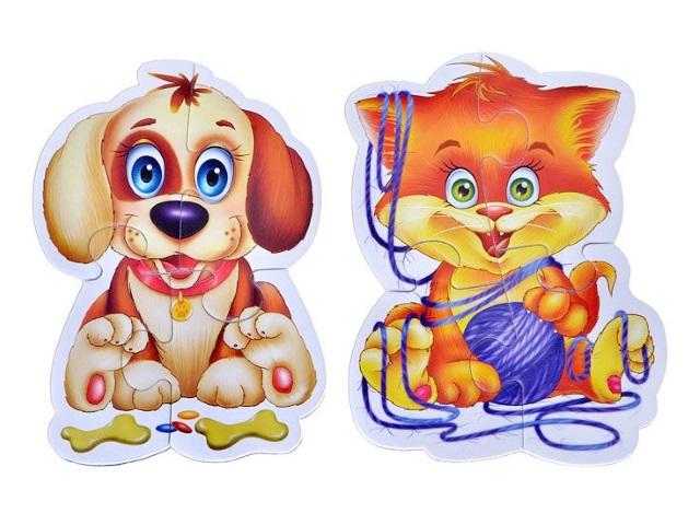 Пазлы магнитные Vladi Toys 2в1 Домашние любимцы VT3208-02