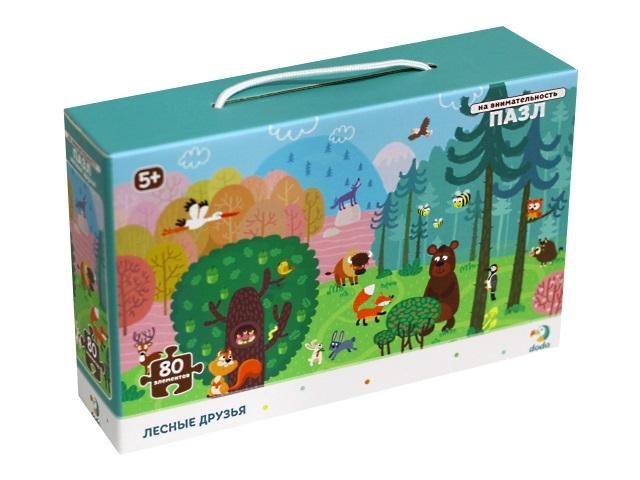 Пазлы Dodo в рамке 80 деталей Лесные друзья 300140