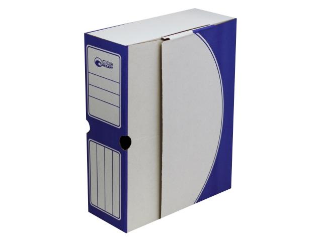 Папка архивная картон А4 10см Фис Стандарт синяя 1800