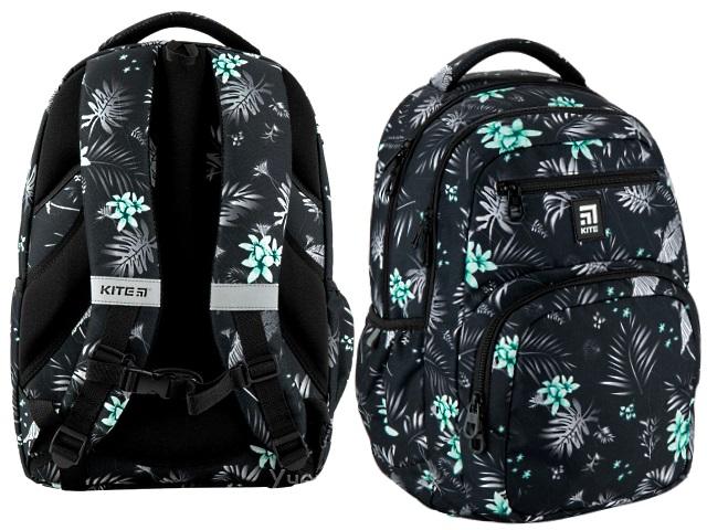 Рюкзак Kite Education Голубые цветы 44.31.5*14см черный K20-903L-3