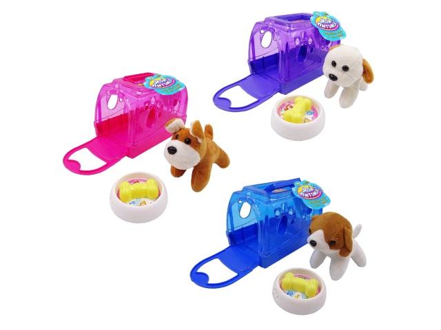 Мягкая игрушка Собака 10см в переноске ABToys PT-01231