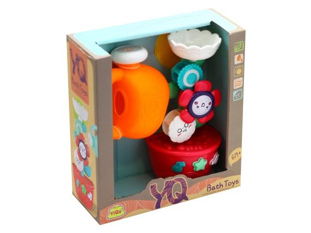 Игрушка для купания Мельница Цветок в горшочке с лейкой JunFa YQ8206