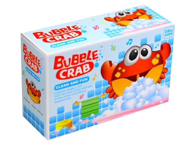 Игрушка для купания на батарейках Краб со звуком и светом Bubble Crab 1688