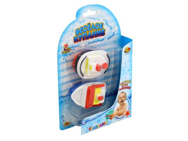 Игрушки для купания  2 шт. Веселое купание Катер-брызгалка PT-00518