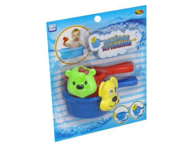 Игрушки для купания  2 шт. Веселое купание Кошечка и собачка PT-01209