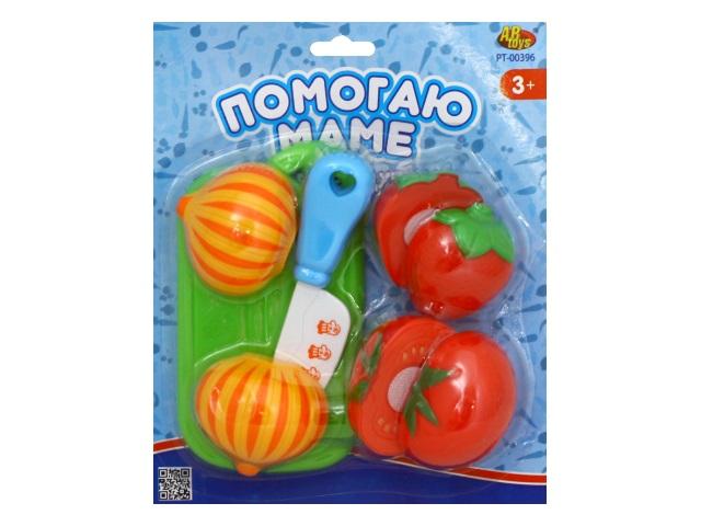 Продукты для резки на липучке Овощи 8 предметов Помогаю маме PT-00396