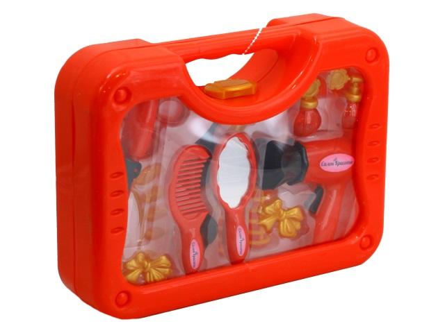 Парикмахерский набор 16 предметов Салон красоты в чемоданчике ABToys PT-00605
