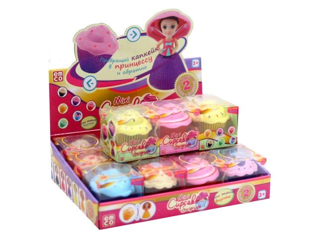Кукла-трансформер 15 см Кекс Cupcake Surprise ассорти JunFa 1109