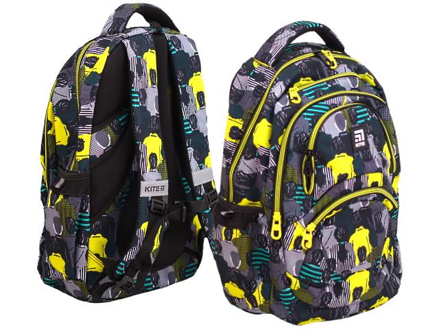 Рюкзак Kite Education 47*32*13см серо-желтый K20-2563L-2