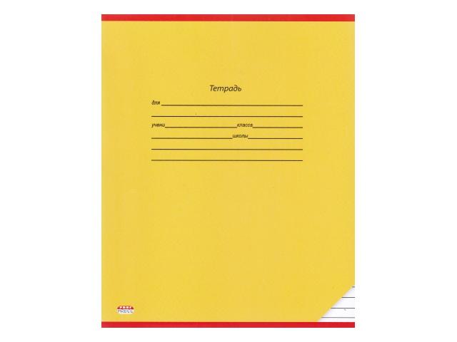 Тетрадь 12л линия Prof Press Классика Желтая 12-9183