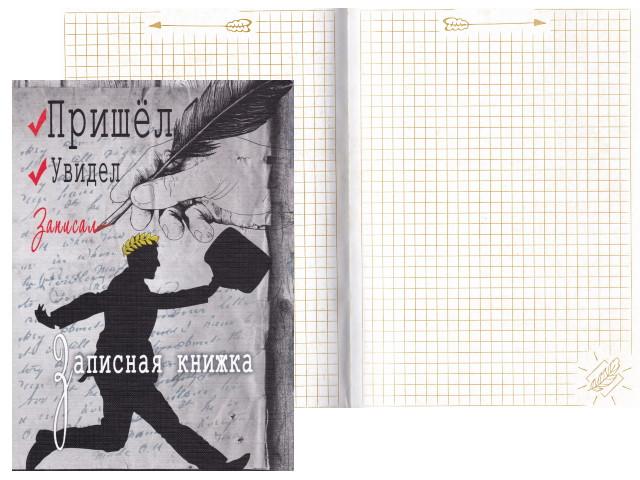 Записная книжка А5 тв/переплёт 128л Пришел Увидел Записал Prof Press 128-8798