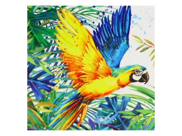 Алмазная мозаика без подрамника 30*30см Mazari Тропическая птица M-10524